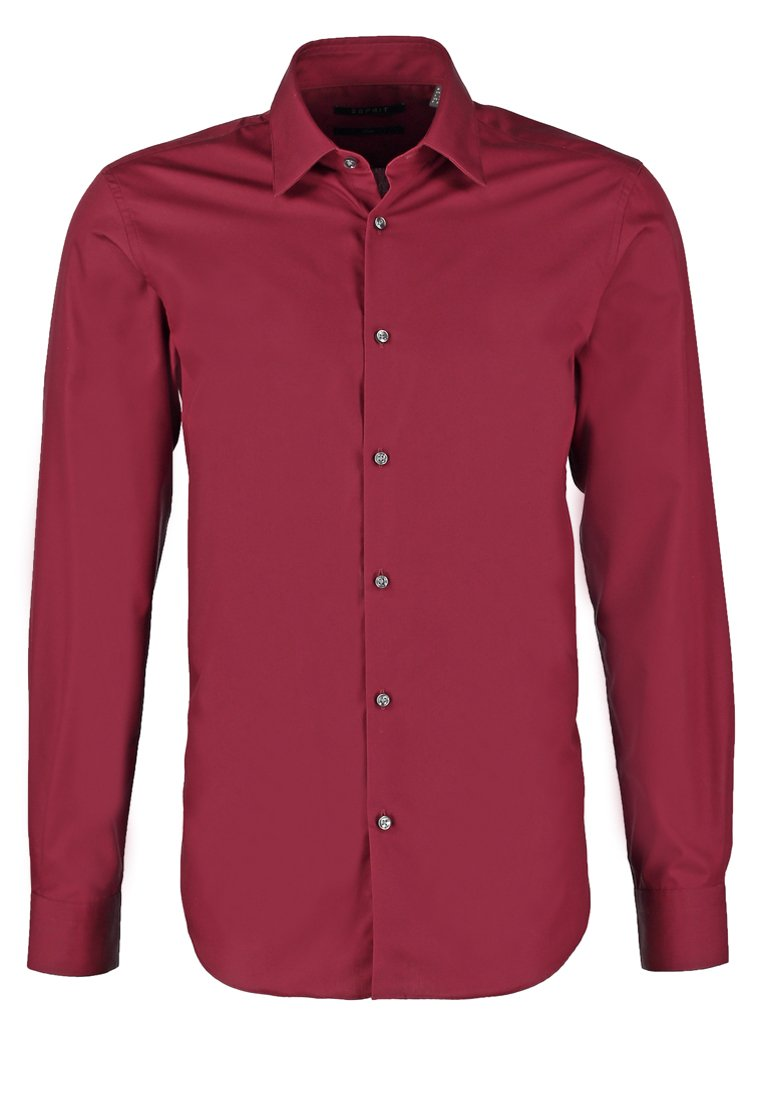 Esprit Collection SLIM FIT Camisa de traje garnet red