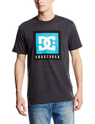 DC Shoes BOXED OUT SS M TEES KRPH-Camiseta Hombre    Gris (Dark Heather Grey) X-Large