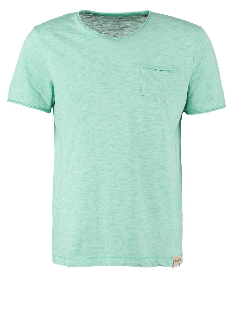 TOM TAILOR REGULAR FIT Camiseta básica strong ming green