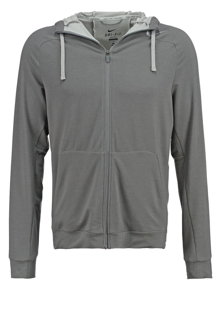 Nike Performance TOUCH  Sudadera con cremallera gris/noir