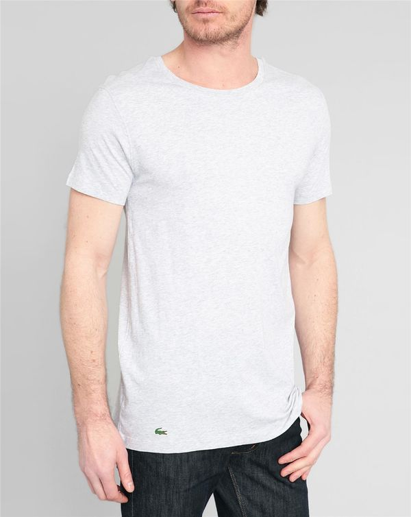 LACOSTE UNDERWEAR, 3-Pack of Round-Neck T-Shirts in Grey ELS Cotton
