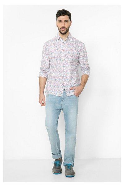 Desigual - Hombre - Camisa blanca a topos - Manoloion - Size M