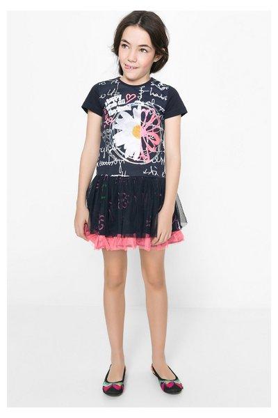04fcb39b4 Desigual - Mujer - Vestido con falda tul a capas para niña - Lansing - Size  3/4