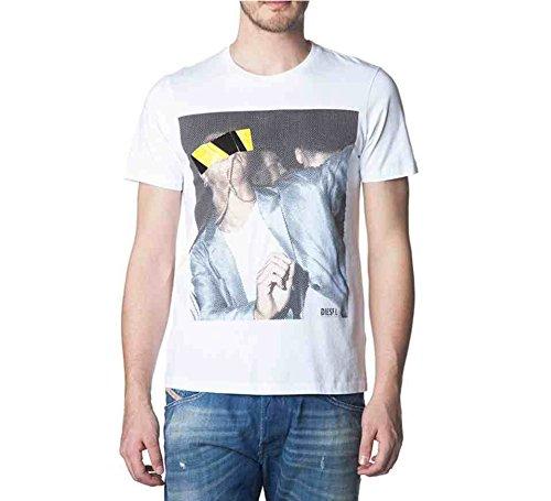 Diesel - Camiseta - Manga Corta - para hombre blanco blanco Large