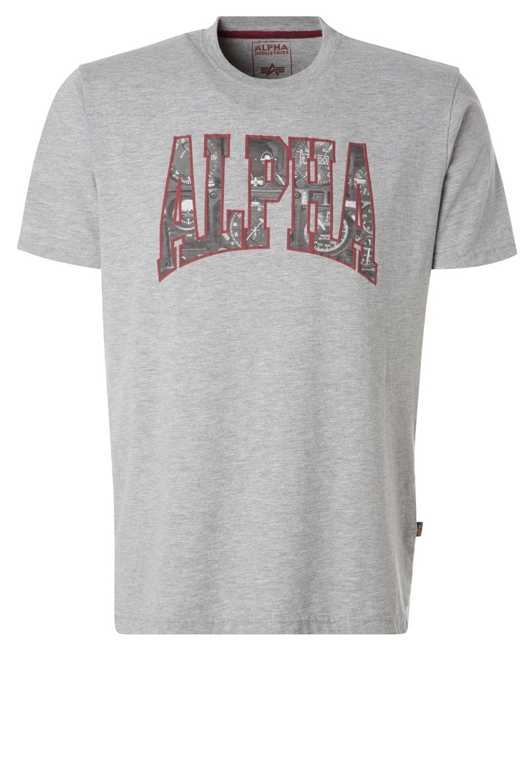 Alpha Industries Camiseta print grey heather