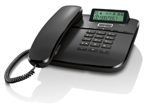 Gigaset DA610 - Teléfono analógico con manos libres, negro