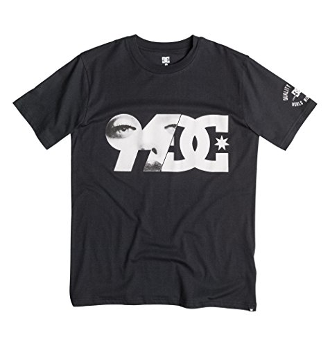 DC Shoes Brickline - Camiseta para hombre, color negro, talla S