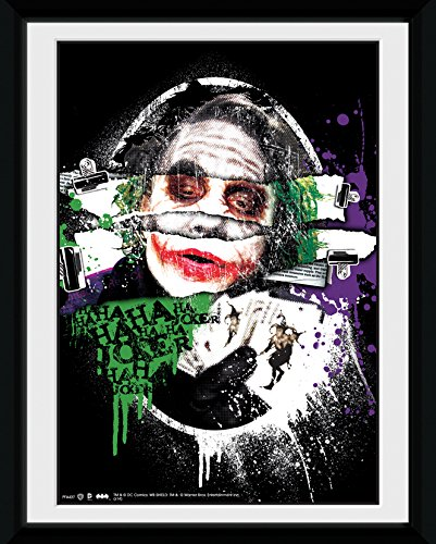 GB eye, Batman The Dark Knight, Joker Torn, Fotografia Enmarcada, 20 x 15 cm