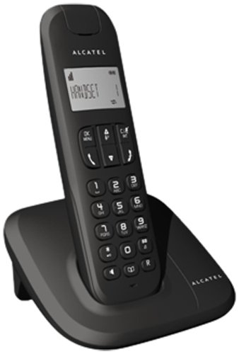 Alcatel Delta 180 - Teléfono fijo digital (inalámbrico, DECT), negro