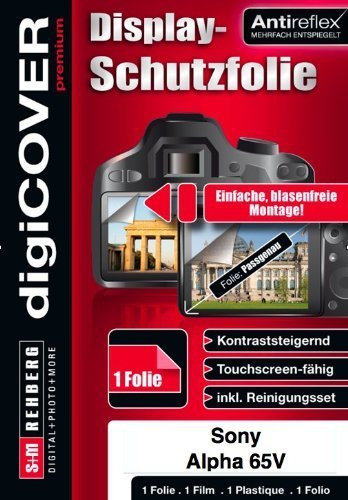 DigiCOVER - Protector de pantalla antirreflectante para Sony Alpha 65V