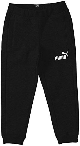 Puma  Ess Large Logo Sweat Pants, Closed, Fleece, B - Pantalones deportivos para niño, color negro, talla 164 cm