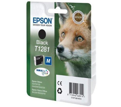 Epson Singlepack Black T1281 DURABrite Ultra Ink - Cartucho de tinta para impresoras (Negro, 5,9 ml, Inyección de tinta)