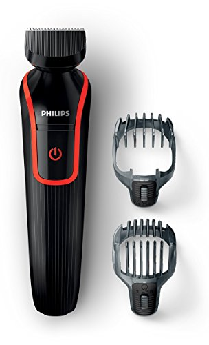 Philips Multigroom 1000 QG410/16 - Recortador y barbero, 2 peines, 18 posiciones de longitud, color negro