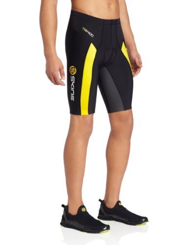 SKINS TRI400 Shorts Hombre negro/amarillo S