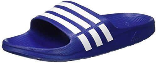 Adidas Duramo Slide - Chanclas unisex, color azul (true blue/white/true blue), talla 44.5 EU (10 UK)