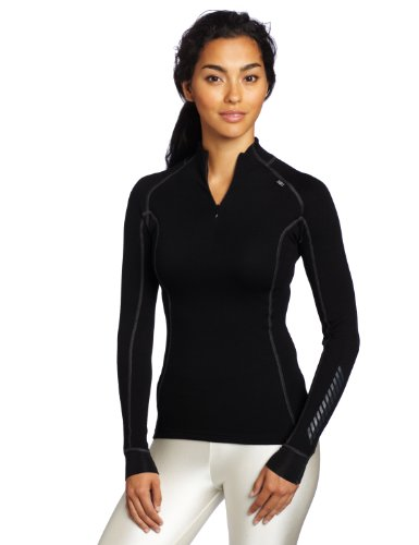 Helly Hansen W HH Warm Freeze 1/2 Zip - Camiseta para mujer, color negro, talla XL