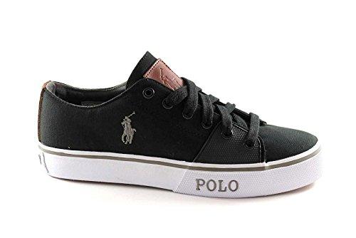POLO RALPH LAUREN CANTOR zapatos negros hombre zapatillas de tela 46