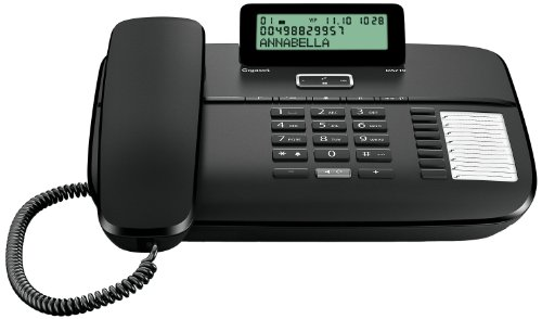 Gigaset DA710 - Teléfono con identificación de llamada y manos libres, negro