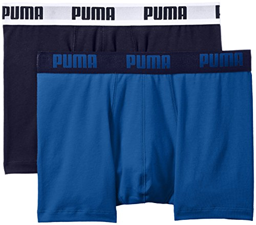 Puma Basic Boxer 2P - Calcetines para hombre, color rojo, talla 43-46