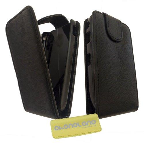 Funda de Piel para Samsung Galaxy S4 Mini (i9195) Color Negro