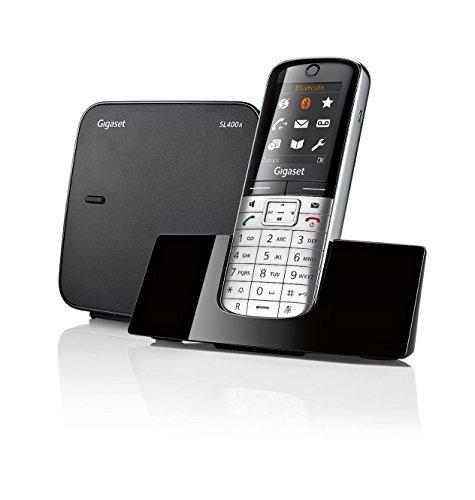 Gigaset SL400A - Teléfono fijo (DTMF, 500 entradas, 45 min, TFT) negro