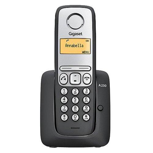 Gigaset A230 - Teléfono fijo inalámbrico, color negro