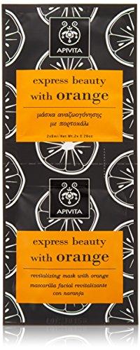 Apivita express beauty Revitalizing Mask with Orange 2 x 8ml For Dark spots, First Wrinkles