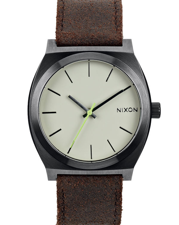 NIXON, Brown Time Teller Gator Watch