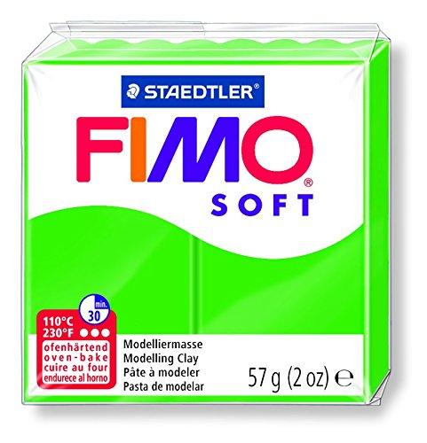 Staedtler Fimo - Pasta de modelar que se endurece en el horno, color verde tropical