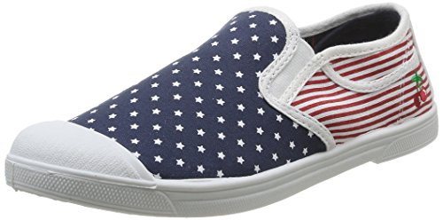 Le Temps des Cerises Seven - Zapatillas de deporte de canvas para mujer multicolor Multicolore (USA Flag) 40