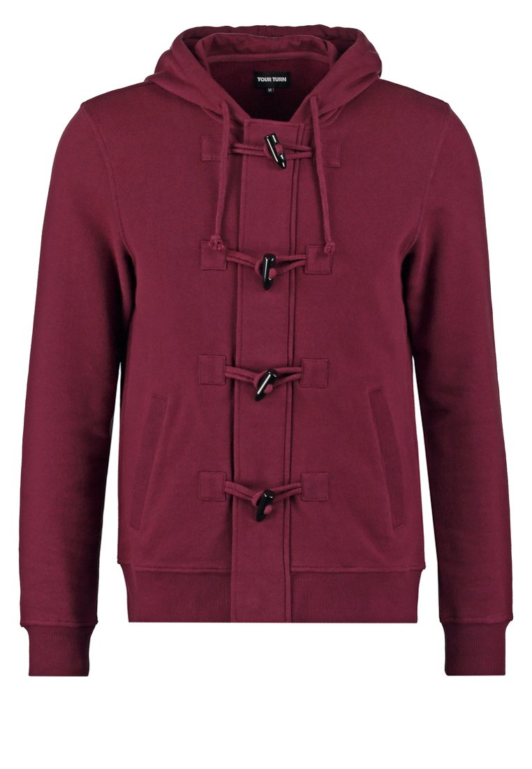 YOUR TURN Sudadera con cremallera bordeaux