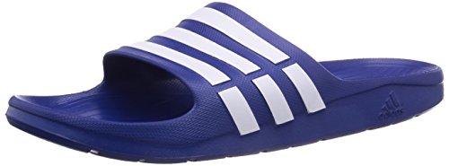 Adidas Duramo Slide - Chanclas unisex, color azul (true blue/white/true blue), talla 40.5 EU (7 UK)