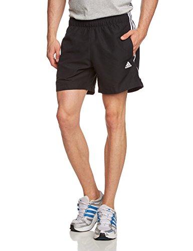 adidas ESS 3S Chelsea - Pantalón corto para hombre, color negro / blanco, talla XS