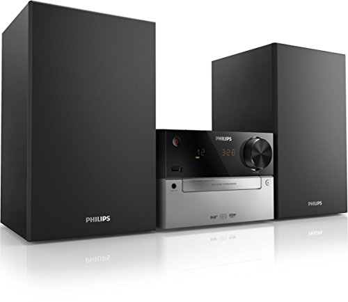 Philips MCB2305 - Microcadena (Micro set, Negro, Corriente alterna, CD, CD-R, CD-RW, MP3, Fast backward, Avance rápido, Next, Previous, Repetir, Barajar)