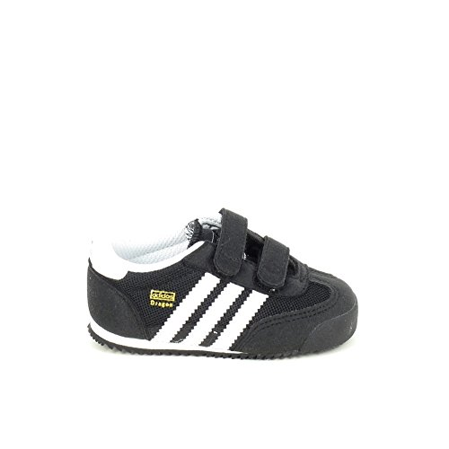 adidas Dragon CF I Zapatillas para niños, color negro blanco, talla 22