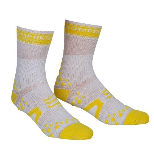 Compressport - Calcetines, talla XXL (Talla del fabricante : T5), color blanco / amarillo