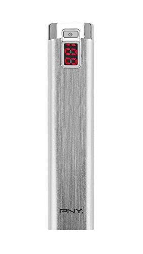 PNY P-B2600-1S02-RB - Batería portátil recargable para diferentes dispositivos (2600 mAh, microUSB), plata