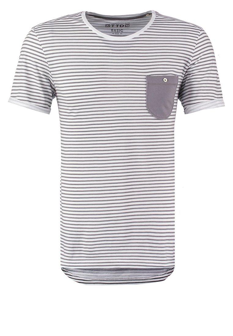TOM TAILOR DENIM BASIC FIT Camiseta print white