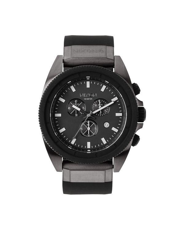 NIXON, Gunmetal Black Chrono The Rover Watch