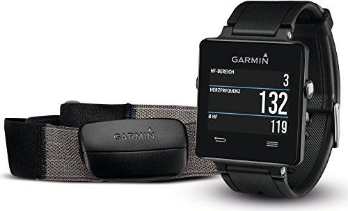 Garmin vívoactive HRM - Smartwatch con GPS y pulsómetro, color negro