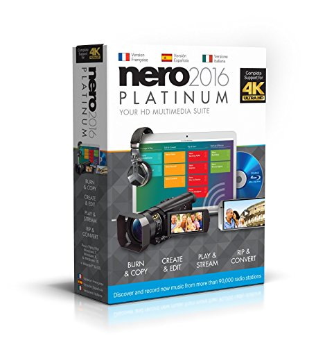 Nero 2016 Platinum - Software De Grabación