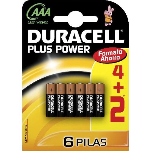Duracell - Pila AAA (blister 4 unidades + 2 de regalo)