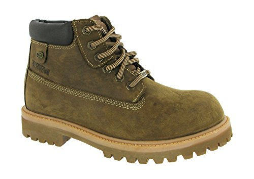 Skechers Lace-Up Lined Mens Boots - Dark Sand Charcoal - Size 7