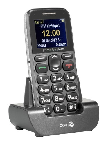 Doro Primo 215 - Teléfono móvil (4,32 cm (1.7), 160 x 128 Pixeles, TFT, Single SIM, GSM, 900, 1800, 1900 MHz) Gris