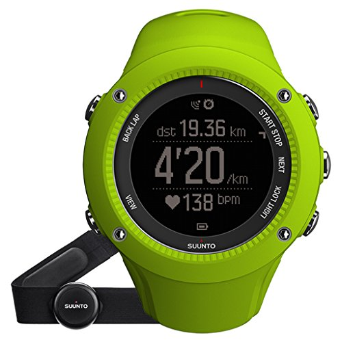 Suunto Ambit3 Run Lime (Hr) - Reloj de carrera GPS, color amarillo