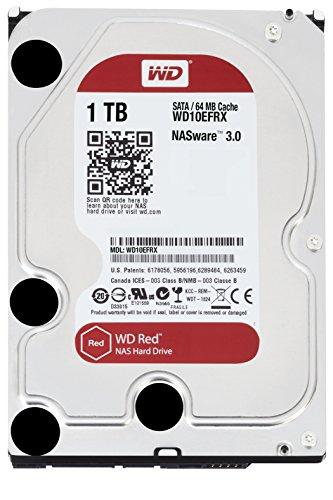 WD Red - Disco duro para dispositivos NAS de sobremesa de 1 TB (Intellipower, SATA a 6 Gb/s, 64 MB de caché, 3,5