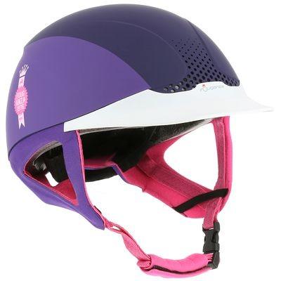 Casco equitación SAFETY violeta FOUGANZA
