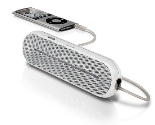 Philips SBA 1600 - Altavoces portátiles para reproductor de MP3, color plateado