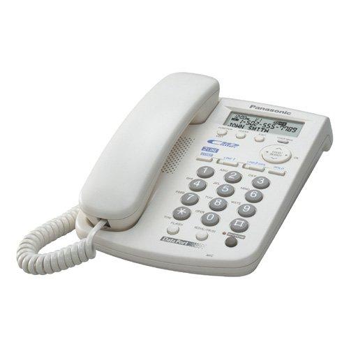 Panasonic Corded Telephone - Teléfono fijo analógico, blanco