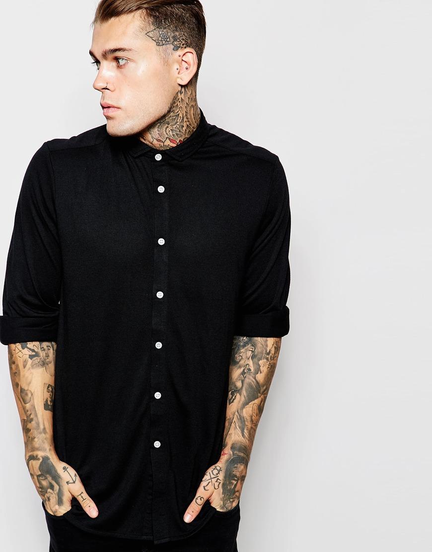 Camisa de punto de manga larga de ASOS